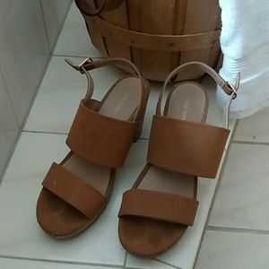 Old Navy, Tan, Double Strap Sandals